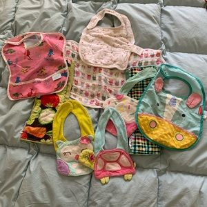 Boutique brands baby bib and burp cloth lot